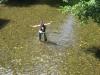 Lola in a river